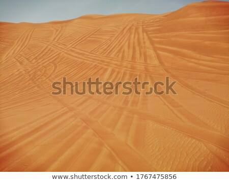 sand dune in the desert with marks of cars Stock photo © meinzahn
