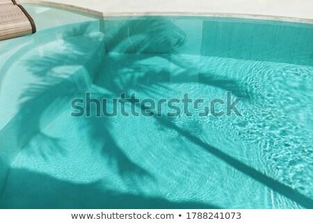 pattern of water in the pool reflecting the sun in a harmonic wa Stock photo © meinzahn