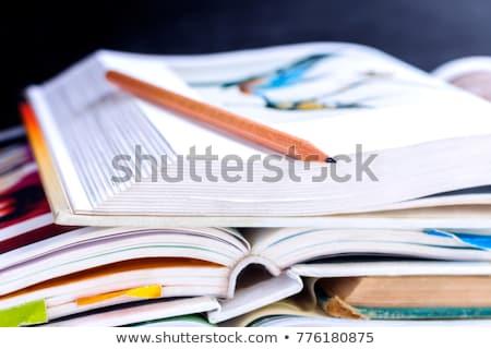 Libro de texto macro escuela fondo Foto stock © AlphaBaby