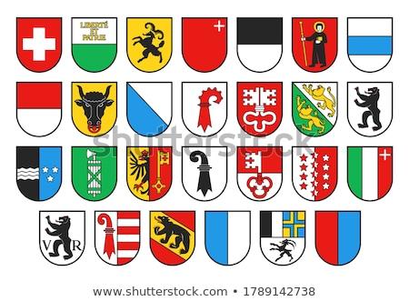 Suíça · bandeira · velho · edifício · madeira - foto stock © tony4urban