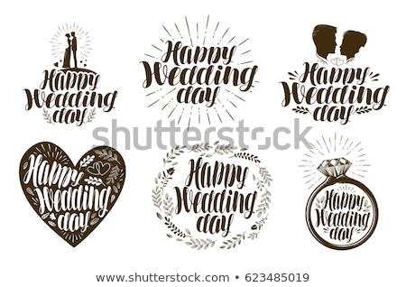 Сток-фото: счастливым · свадьба · день · портрет · Cute