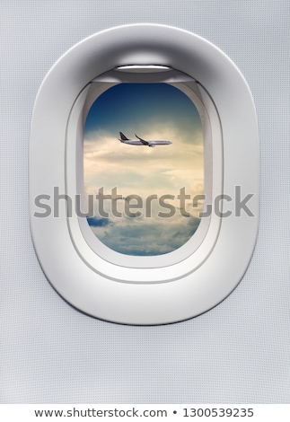 View of an airplane from another airplane window Stock photo © bmonteny