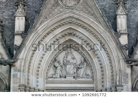 Basiliek kerk baksteen Praag republiek katholiek Stockfoto © FER737NG