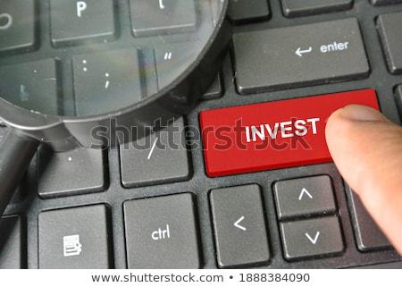 Stock fotó: Előnyök · piros · billentyűzet · gomb · belépés · fekete