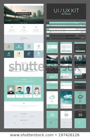Uno página sitio web ui plantilla de diseño iconos Foto stock © DavidArts
