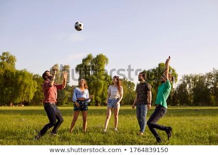 ボール · ゲーム · 代 · 青空 · 空 · 少女 - ストックフォト © EFischen