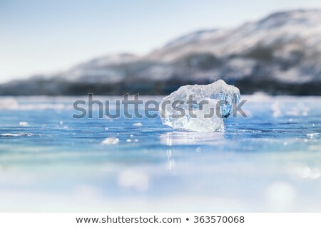 Close-Up Image of Icicle on the Blue Sky Background Stock photo © maxpro
