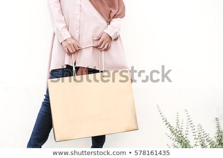 Compras mulher saco venda feliz Foto stock © denisgo