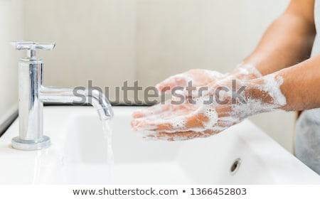 Foto stock: Higiene · pessoal · retrato · jovem · loiro · mulher