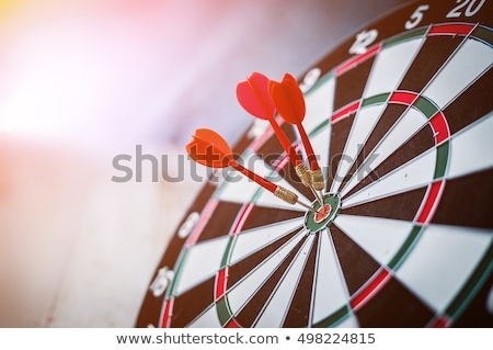 Three darts in the center of the target Stock photo © Valeriy