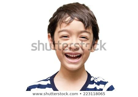 улыбаясь азиатских мальчика счастливым ребенка портрет Сток-фото © tangducminh