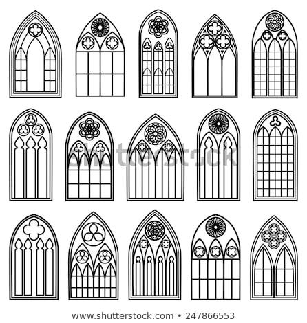 Windows gothic stile muro moda finestra Foto d'archivio © art9858
