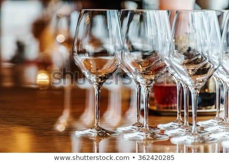 boş · şarap · bardakları · cam · şarap · yalıtılmış - stok fotoğraf © hasloo