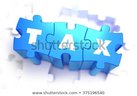 Charge - White Word on Blue Puzzles. Stock photo © tashatuvango
