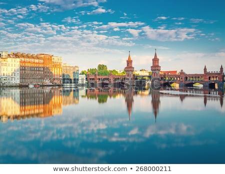 Puente Berlín Alemania cielo agua Foto stock © AndreyKr