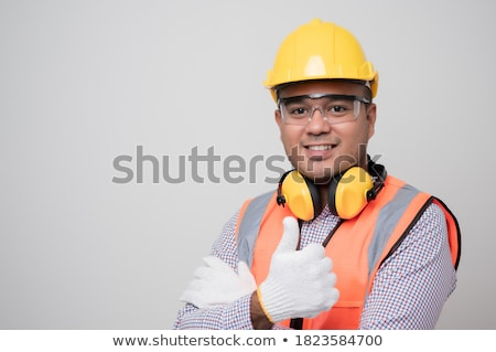 Homme · technicien · signe · assistant - photo stock © wavebreak_media