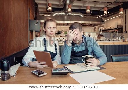 sad business woman and man stock photo © fuzzbones0