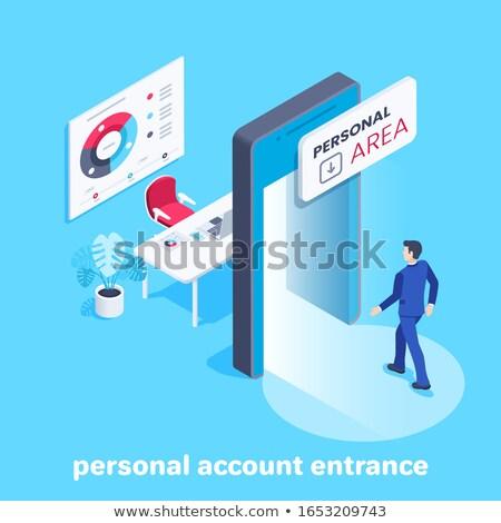 Zakenman mobiele telefoon procede business werk zakenman Stockfoto © Suriyaphoto