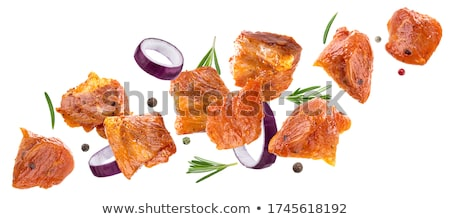 pork marinated in spices stock photo © scenery1