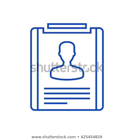 job offer blue vector icon design stock photo © rizwanali3d