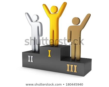 3次元の男 スタンド 勝者 白 先頭 角度 ストックフォト © nithin_abraham