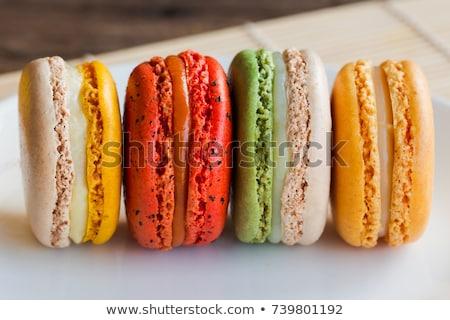 Ev yapımı macaron kurabiye tablo makro Stok fotoğraf © stevanovicigor