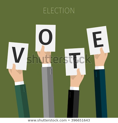Votação mão papel américa pr presidencial Foto stock © chatchai5172