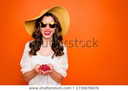 Jeunes brunette dame dentelle sous-vêtements Photo stock © majdansky