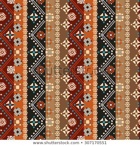 Stock photo: Tribal art ethnic seamless pattern. Boho print. Ethno ornament