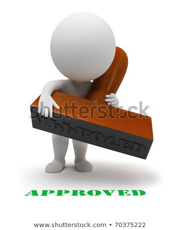 3d small people - approved stamp Stock photo © AnatolyM