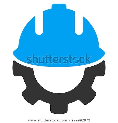 Foto stock: Negócio · construtor · vetor · mão · edifício · casa