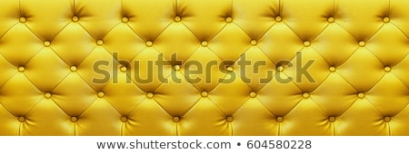 Texture of vintage yellow leather upholstery with buttons Stock photo © stevanovicigor