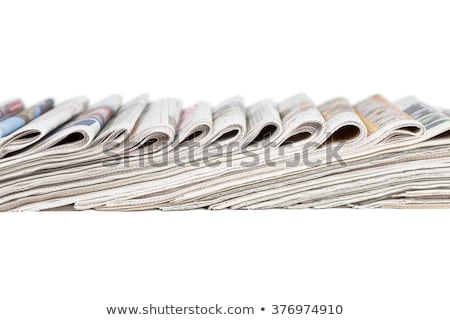 Assortment of folded newspapers Stock photo © pakete