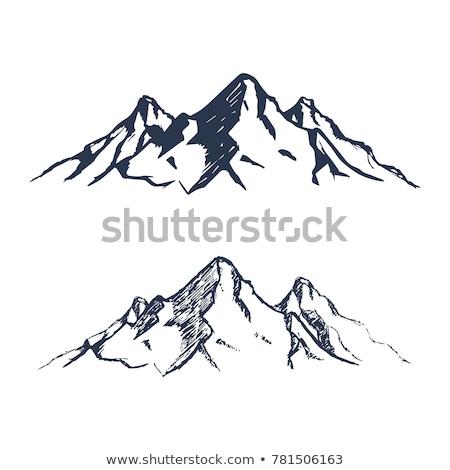 Berg schets icon vector geïsoleerd Stockfoto © RAStudio