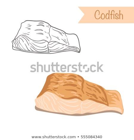Isolé illustration fruits de mer blanche poissons nature Photo stock © ConceptCafe