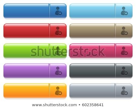 Login ícone marrom botão internet Foto stock © faysalfarhan