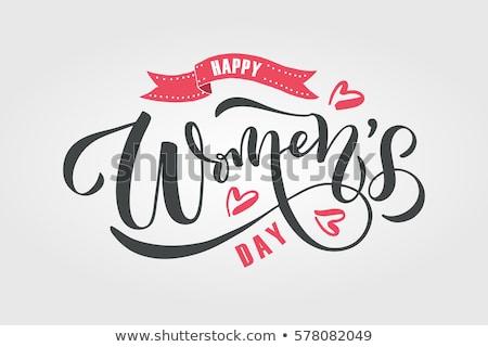 Womens Day greeting card. EPS 10 Stock photo © beholdereye