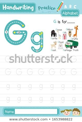 Gorila ilustración ninos naturaleza nino Foto stock © bluering