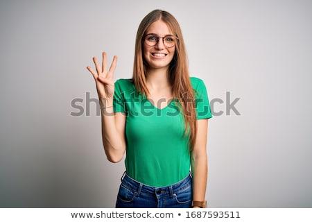 hermosa · jóvenes · mujer · pecas · retrato - foto stock © sapegina