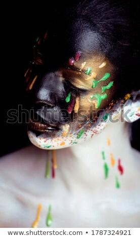 woman with creative make up closeup like butterfly Stock photo © iordani