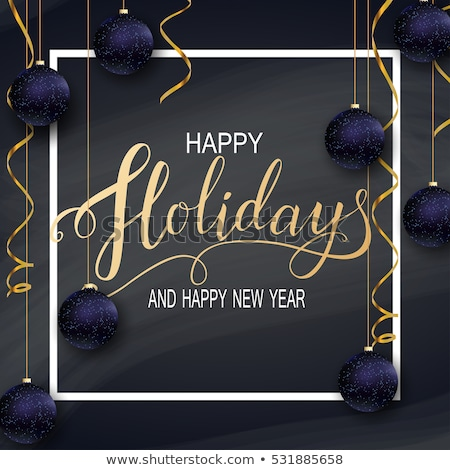 2017 3d lettering with conffetti celebration Stock photo © SArts