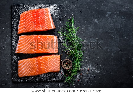 Brut saumon filet argent peau blanche Photo stock © Digifoodstock