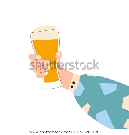 молодые · женщины · характер · питьевой · пива · Бар - Сток-фото © rastudio