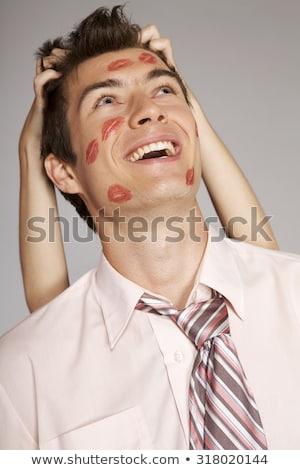 young caucasian businessman laughing stock photo © rastudio