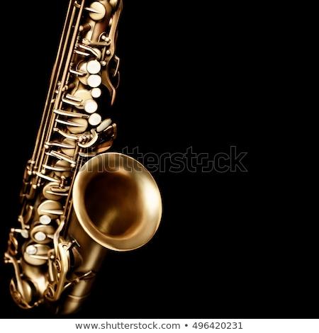 Részlet szaxofon kulcsok sötét zene dzsessz Stock fotó © grafvision