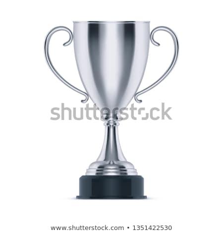 銀 トロフィー カップ 孤立した 白 勝利 ストックフォト © pakete