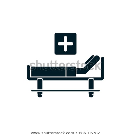 patient bed flat icon stock photo © ahasoft