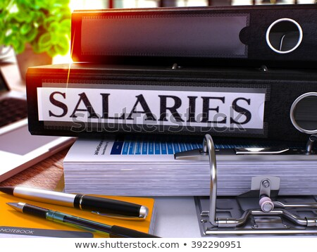 black ring binder with inscription salaries stock photo © tashatuvango