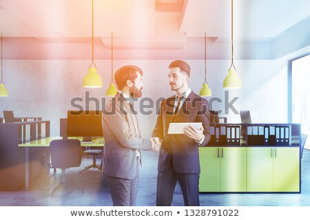 Piac ellenőrzés citromsárga iroda mappa kép Stock fotó © tashatuvango