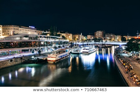 Stock photo: Schwedenplatz in Vienna Austria at night